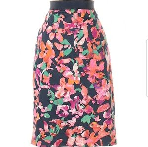 Ann Taylor Flower Print Pencil Skirt